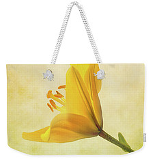 Weekender Tote Bag featuring the photograph Lemon Lily by Roy McPeak