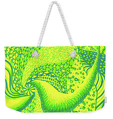 Weekender Tote Bag featuring the drawing Lemon Lime by Kim Sy Ok