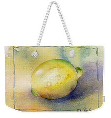 Lemon Weekender Tote Bag