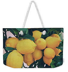 Lemon Tree Weekender Tote Bag by Happy Home Artistry