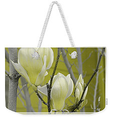 Weekender Tote Bag featuring the photograph Lemon Yellow by Athala Carole Bruckner