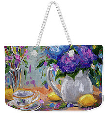 Lemons And Purple  Weekender Tote Bag