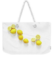 Lemons Weekender Tote Bag by Lauren Mancke