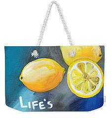 Lemons Weekender Tote Bag by Linda Woods