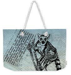 Lemur Catta Weekender Tote Bag