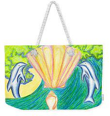 Weekender Tote Bag featuring the drawing Lemuria Atlantis by Kim Sy Ok