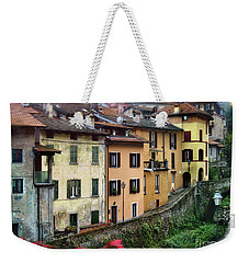 Weekender Tote Bag featuring the photograph Lenno From The Bus by Jennie Breeze