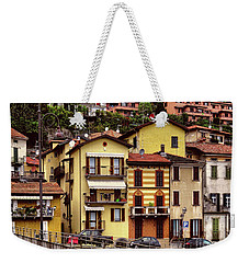 Weekender Tote Bag featuring the photograph Lenno.lake Como by Jennie Breeze