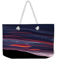 Lenticular Clouds At Sunset - Patagonia Weekender Tote Bag by Stuart Litoff