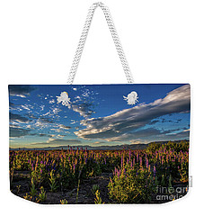Lenticular Lupine Weekender Tote Bag by Mitch Shindelbower