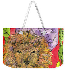 Weekender Tote Bag featuring the painting Leo by Cathie Richardson