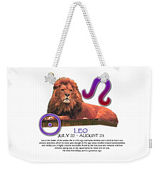 Leo Sun Sign Weekender Tote Bag
