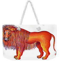 Leo The Lion Weekender Tote Bag by Jane Tattersfield