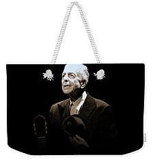 Portrait Of Leonard Cohen Weekender Tote Bag