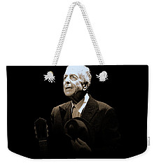 Portrait Of Leonard Cohen Weekender Tote Bag