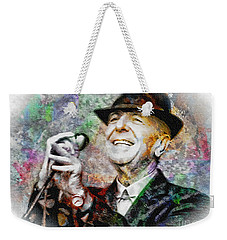 Leonard Cohen - Tribute Painting Weekender Tote Bag