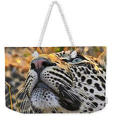 Leopard Aloft Weekender Tote Bag