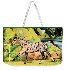 Leopard Appaloosa - Dream Horse Series Weekender Tote Bag by Cheryl Poland