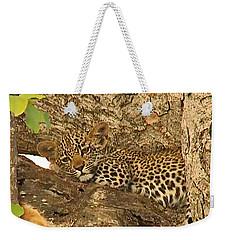 Leopard Cub Weekender Tote Bag