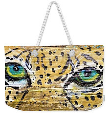 Leopard Eyes Weekender Tote Bag