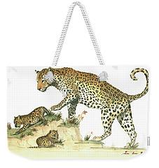 Leopard Family Weekender Tote Bag