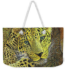Leopard Gaze Weekender Tote Bag by David Joyner