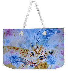 Leopard Hide And Seek Weekender Tote Bag