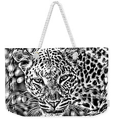 Weekender Tote Bag featuring the photograph Leopard by Lucia Sirna