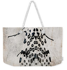 Leopard Moth Minimalist Nature Weekender Tote Bag