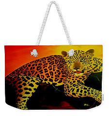Leopard On A Tree Weekender Tote Bag