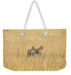 Leopard Pair Weekender Tote Bag
