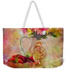 Les Fraises Et Les Fleurs 2015 Weekender Tote Bag