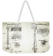 Les Paul Guitar Patent 1955 Weekender Tote Bag