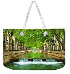 Les Quais De La Fontaine Nimes Weekender Tote Bag by Scott Carruthers