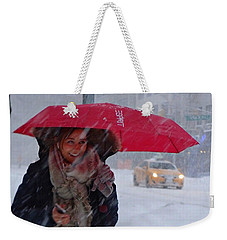 L Esprit De New York - Winter In New York Weekender Tote Bag