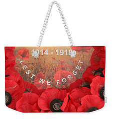 Lest We Forget - 1914-1918 Weekender Tote Bag