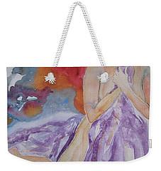 Weekender Tote Bag featuring the painting Let It Burn by Beverley Harper Tinsley