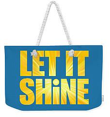 Let It Shine Sun Weekender Tote Bag