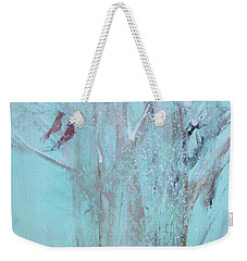 Weekender Tote Bag featuring the painting Let It Snow by Robin Maria Pedrero
