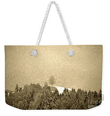 Weekender Tote Bag featuring the photograph Let It Snow - Winter In Switzerland by Susanne Van Hulst