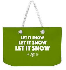 Let It Snow With Snowflakes Weekender Tote Bag by Heidi Hermes