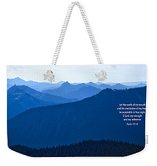 Weekender Tote Bag featuring the photograph Let My Words by Lynn Hopwood