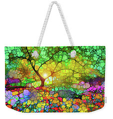 Let This Light Bring You Home Weekender Tote Bag by Tara Turner