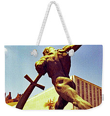 Let Us Beat Our Swords Into Plowshears Weekender Tote Bag