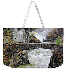 Letchworth Lower Falls Weekender Tote Bag by Charline Xia