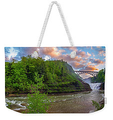 Letchworth Upper Falls - Crop Weekender Tote Bag