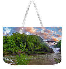Letchworth Upper Falls Weekender Tote Bag