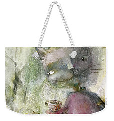 Weekender Tote Bag featuring the mixed media Let's Be Friends by Eleatta Diver