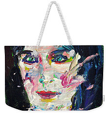 Weekender Tote Bag featuring the painting Let's Feel Alive by Fabrizio Cassetta