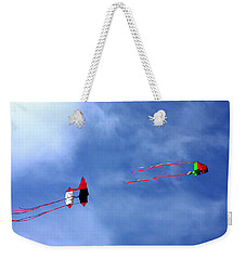 Let's Go Fly 2 Kites Weekender Tote Bag